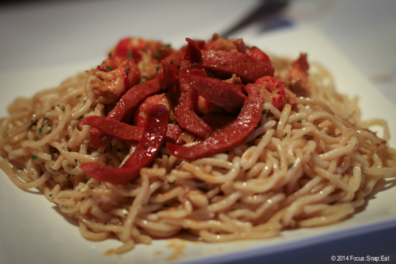 Garlic noodles with Cajun sausage and crawfish was fine although barely could find the crawfish meat or flavor.