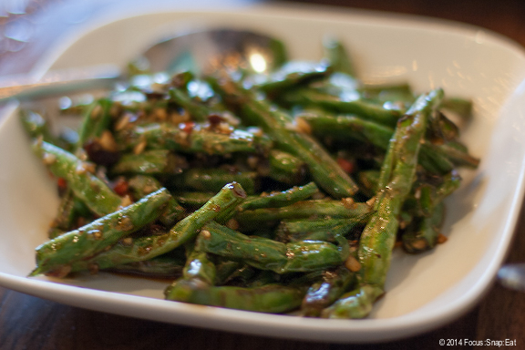 Blistered green beans ($6) had an odd texture to me, like the beans were hollowed out or something.