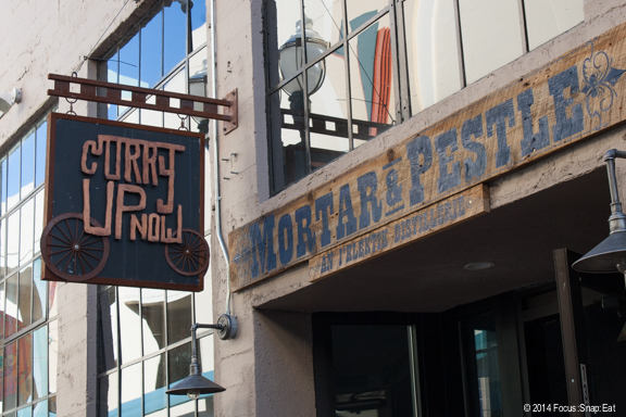 Mortar & Pestle is a bar from the same people behind Curry Up Now.