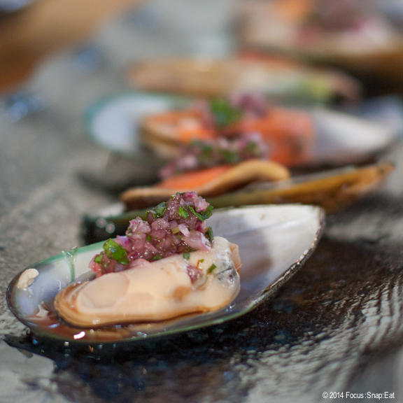 My favorite bite of the evening was this marinated mussel from Sabores del Sur in Walnut Creek.