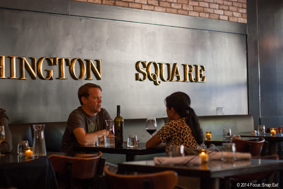 The Square pays homage to the Washington Square Bar & Grill, the famous dining spot in North Beach.