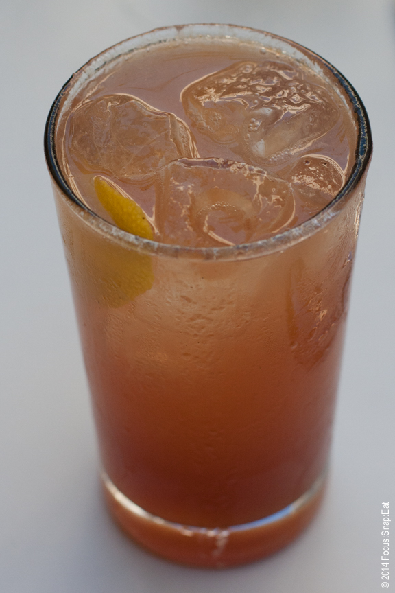 The Lawrenceburg Fizz ($13) made with Wild Turkey bourbon and white peach.