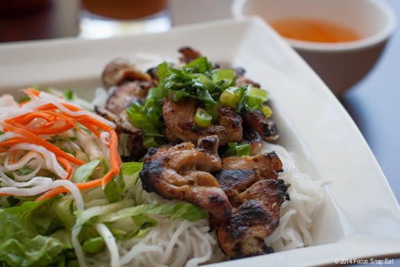 Vermicelli bowl with chicken ($10). The chicken was nicely grilled.