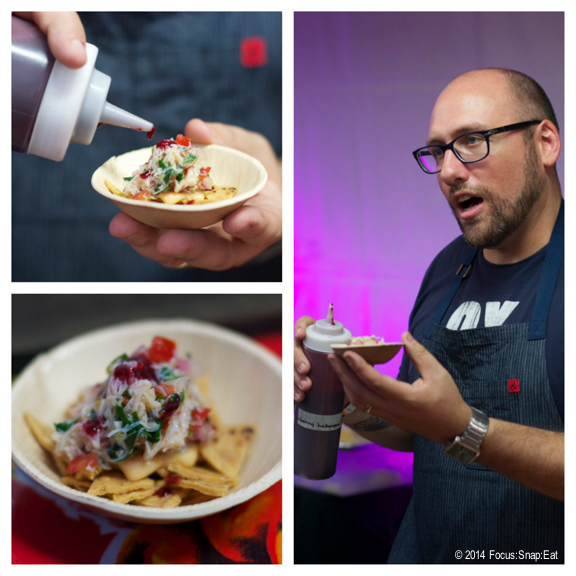 Greg Denton of Ox in Portland made a delicious dungeness crab nacho with a cherry habanero sauce.
