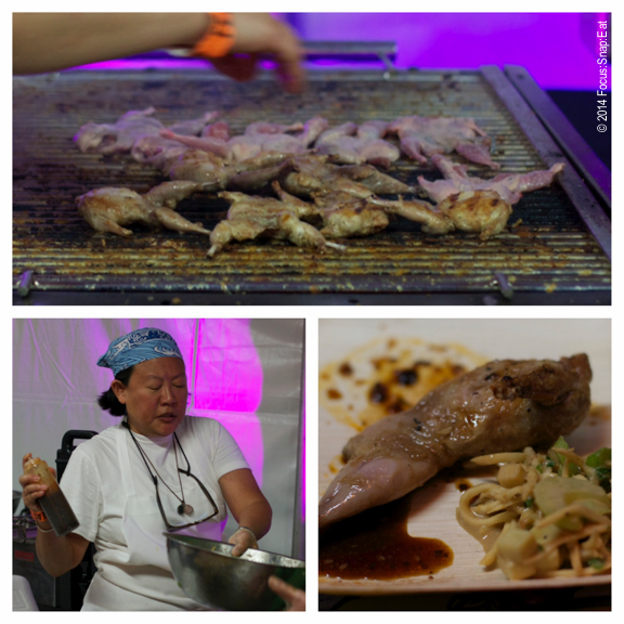 Chef Anita Lo of New York offered up a dish of grilled quail with celeriac and Szechuan pepper.