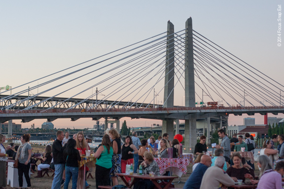 It was a beautiful night to be outside, with views of some of Portland's many bridges.