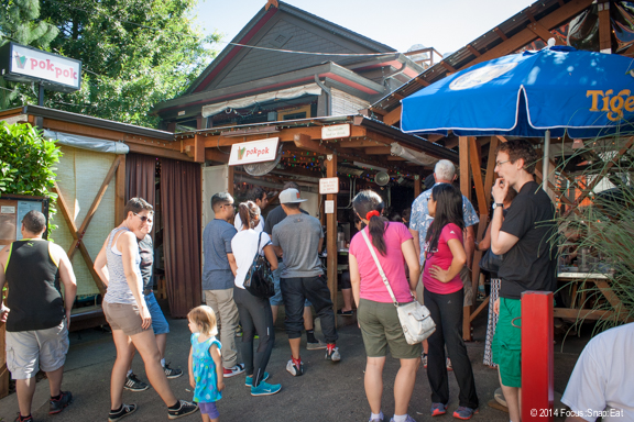Walking back to the car, we passed Ricker's popular Pok Pok, which still had a crowd waiting around 1:30 p.m. on a Friday.
