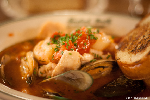 The classic Seafood Cioppino ($32.50) with fresh ingredients