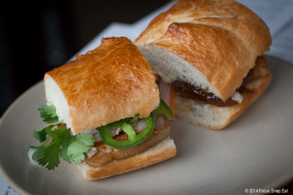 Pork belly banh mi ($10) is on the small side but had all the authentic flavors of the Vietnamese sandwich. I wasn't a fan of the roll, though. It wasn't as crusty as a French roll.