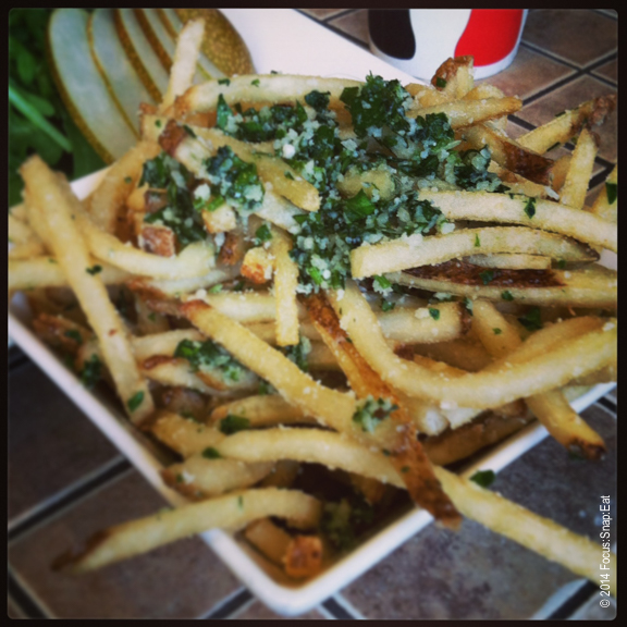 My co-workers ordered the truffled fries ($6), which they liked but felt it could have been more crispy.