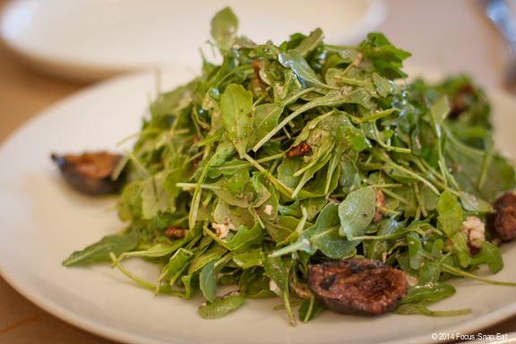 Fig and arugula salad ($13) with fresh figs and a pile up baby arugula with vinaigrette.