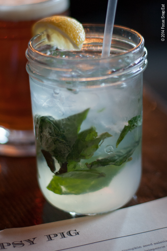 The Spring Fling made of Square One cucumber vodka, fresh basil, lemon, simple syrup and soda water ($12)