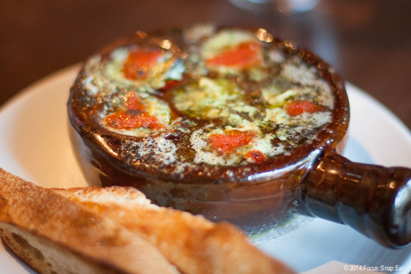 My favorite dish of baked mussels ($9) with escargot butter and pastis.