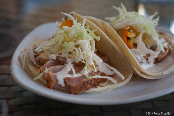 My friend Craig's yellowtail tataki tacos ($12) with achiote, pineapple, cabbage and lime mayonnaise.