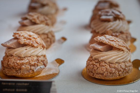 My favorite: The choux bomb with caramel cream filling and a piece of toffee candy.