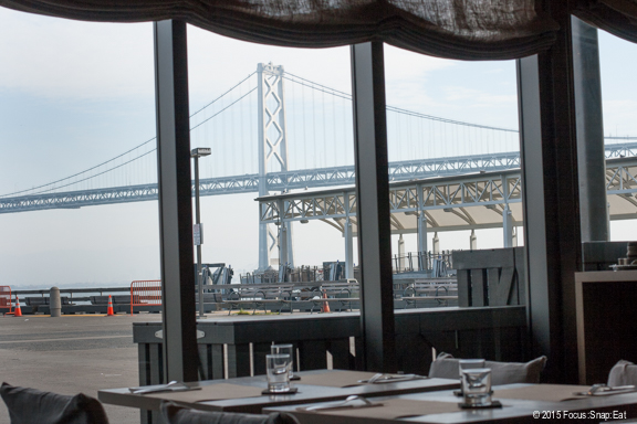 View of the Bay Bridge from the restaurant