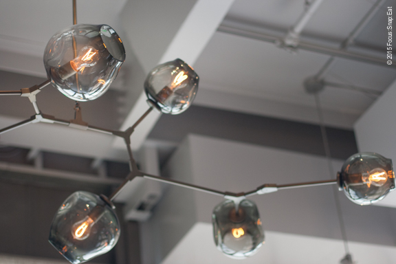 Contemporary lighting in the dining room