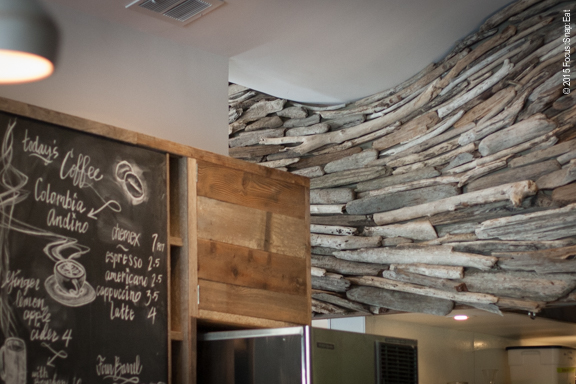 The sweeping reclaim-wood design give the restaurant a sophisticated beach shack feel.