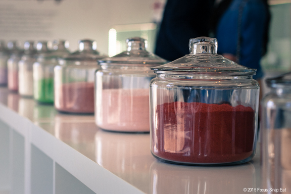 Candy jars gave the shop a candy store vibe