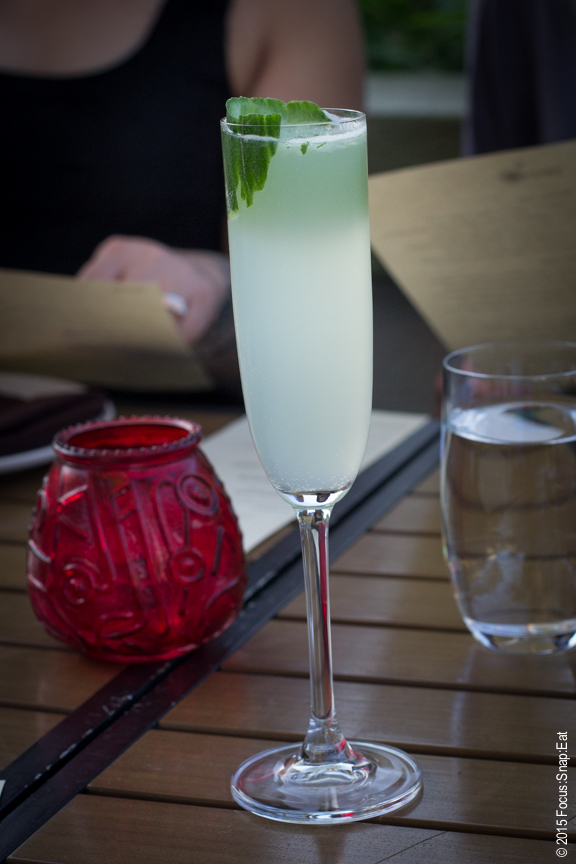 Castle in the Sky ($10), shochu cocktail with cucumber, shiso, mint and sparkling sake