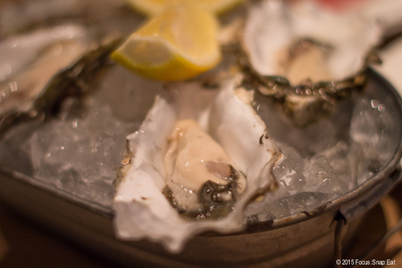 Special oysters of the day were these Totten oysters from Washington state ($1.50 each before 6 p.m.)