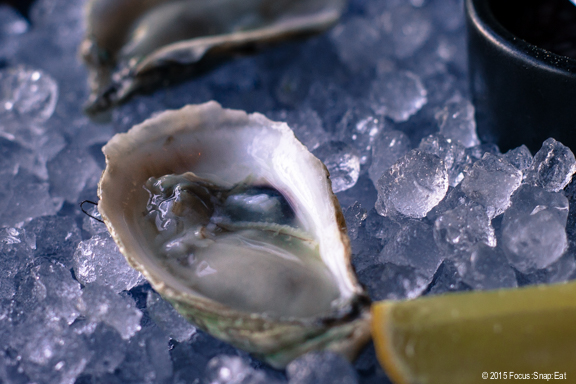 St. Simone raw oysters from New Brunswick in Canada