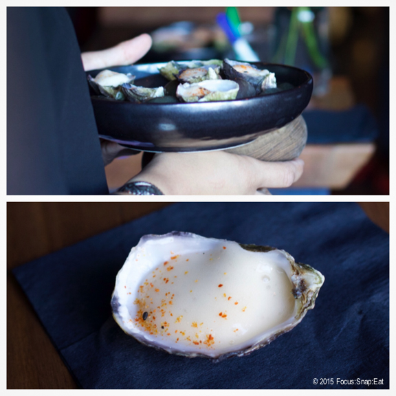 Shigoku oyster with grapefruit kosho foam
