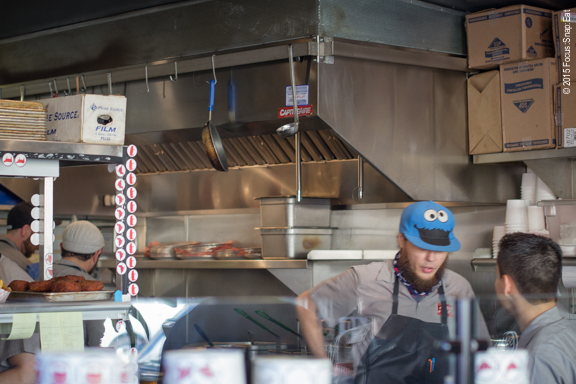The busy kitchen of 4505 Burgers & BBQ