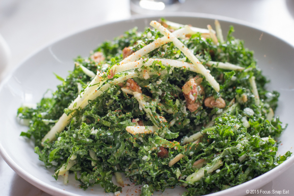 Kale and apple salad at Acorn
