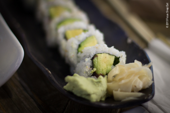Simple avocado and ume roll that Sandy ordered.