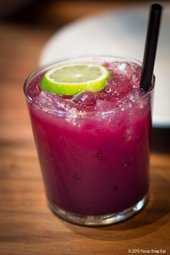 Strawberry beet agua fresca with lime