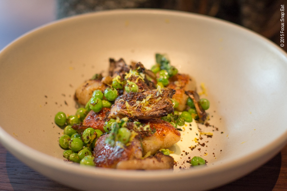 My niece started with this dish of potato-black pepper dumplings ($15) that wasn't the kind of dumplings we expected but still delicious with maitake mushrooms, peas and yogurt.
