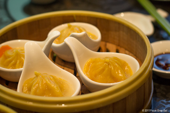 Crab roe juicy xiao lung bao ($8.88). The filling had flavor and the soup inside was light, but wasn't a fan of the skin that seemed to be tough instead of delicate.
