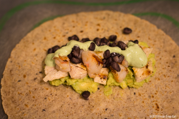 Chicken shrimp burrito