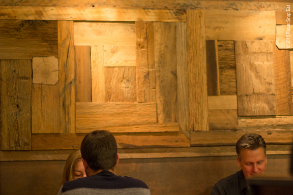 The simple wooden walls at Wako give off a contemporary and modern vibe.