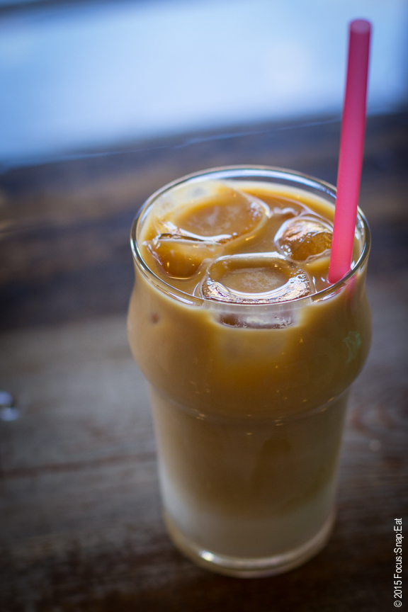 Empress Belanger is a nitro-brewed coffee served cold with XX and sweetened condensed milk.