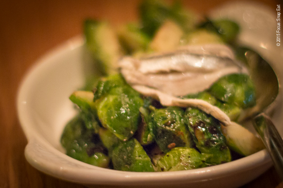 Brussels sprouts with anchovy butter