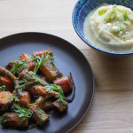 Thanksgiving Sides: Roasted Carrots with Chimichurri and Miso-Butter Mashed Potatoes