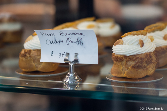 And ending with these cream puffs.