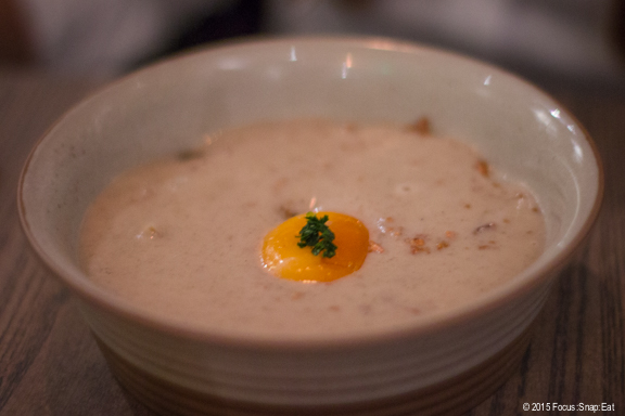 Roasted sunchoke soup