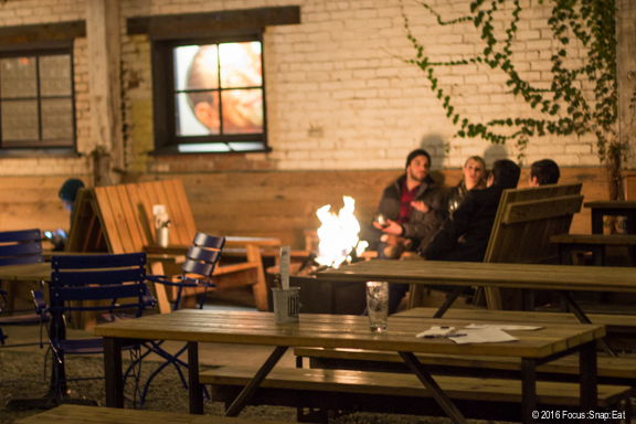 Fire pits make it cozy on a cold winter night.
