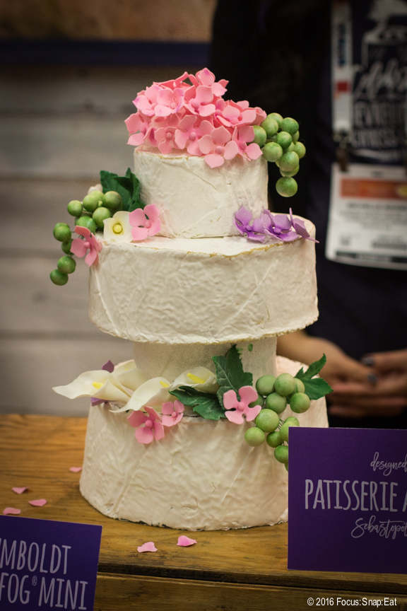 Cypress Grove Chevre in Arcata, Calif., had some of the most beautiful displays. They had a wedding theme in their booth, and wedding cakes were made of entire cheese rounds.