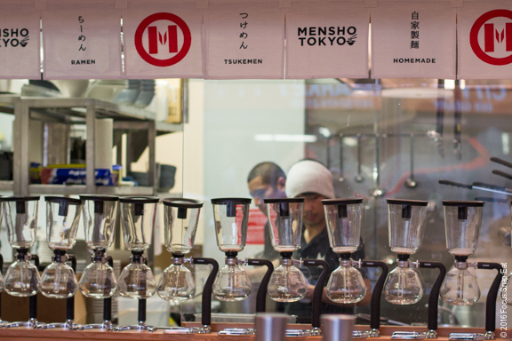 A view of the kitchen of Mensho Tokyo's San Francisco restaurant.