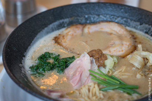 Tori taipan ramen is focused on a rich, creamy chicken broth ($16)