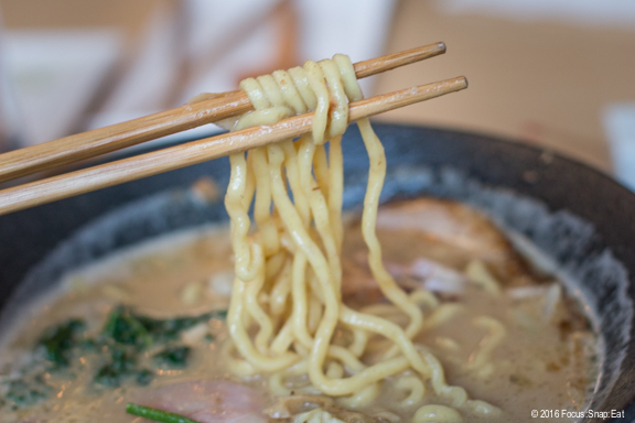 The housemade noodles are thicker than usual at Mensho.