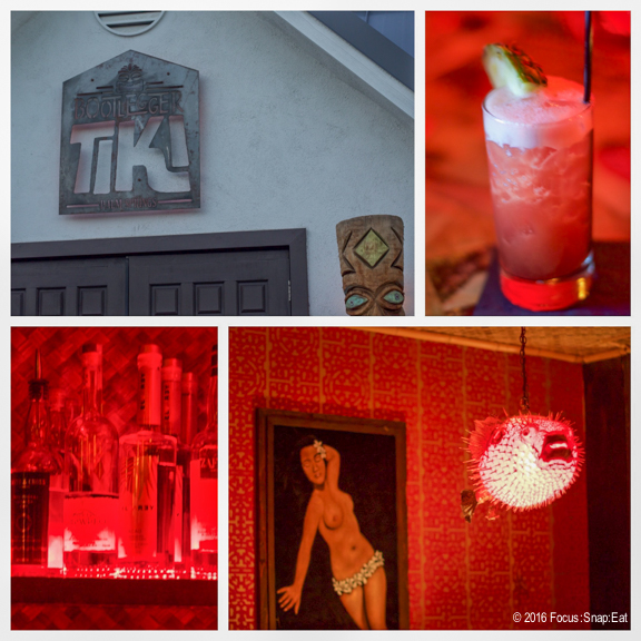 It was a challenge taking photos inside the Bootlegger Tiki bar since everything was red.