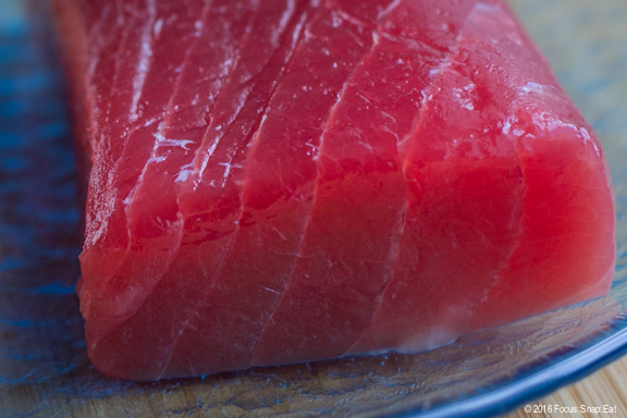 Ahi tuna from Hawaii is traditional for poke because of its rich, fatty meat.
