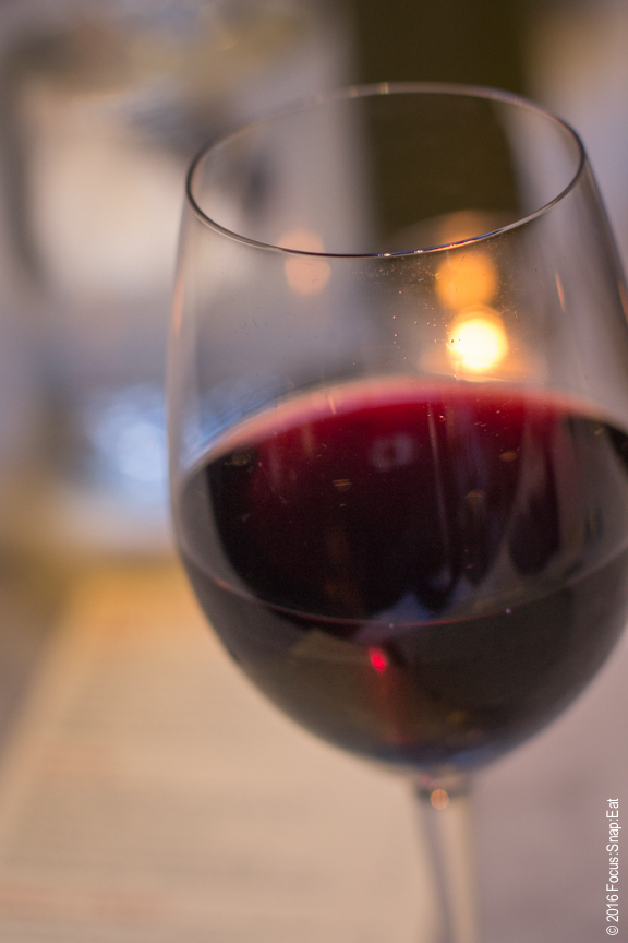 A glass of sparkling red wine known as Baccanti, 2014 Aglianico Blend, from Italy ($10)