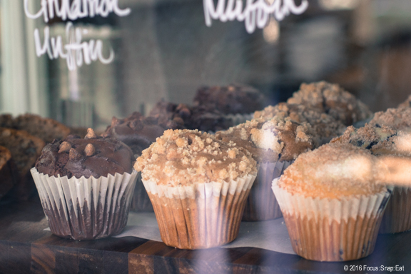 Muffins and other baked goods are available too with tea