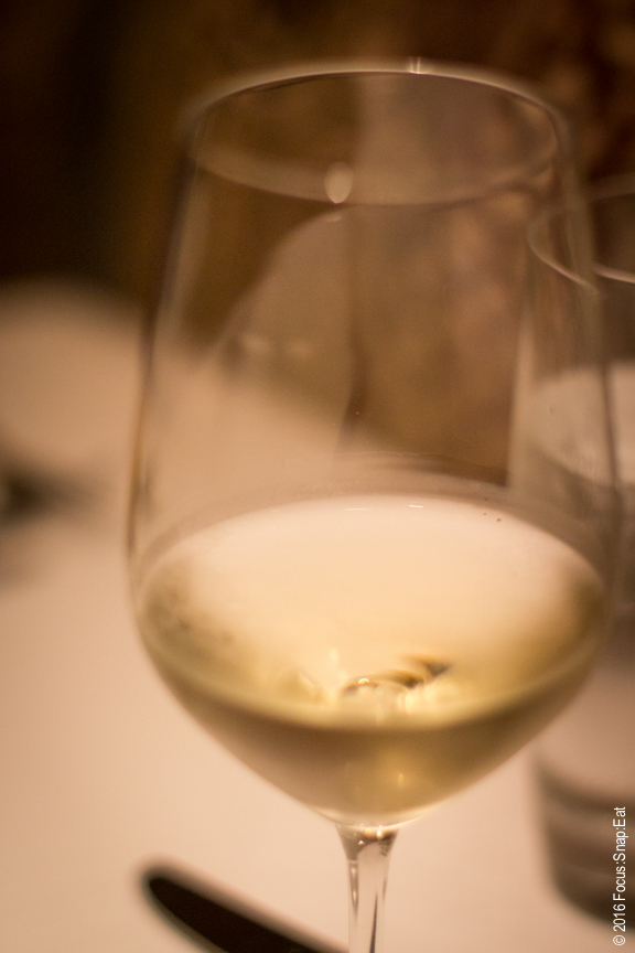 A glass of Riesling to pair with our meal